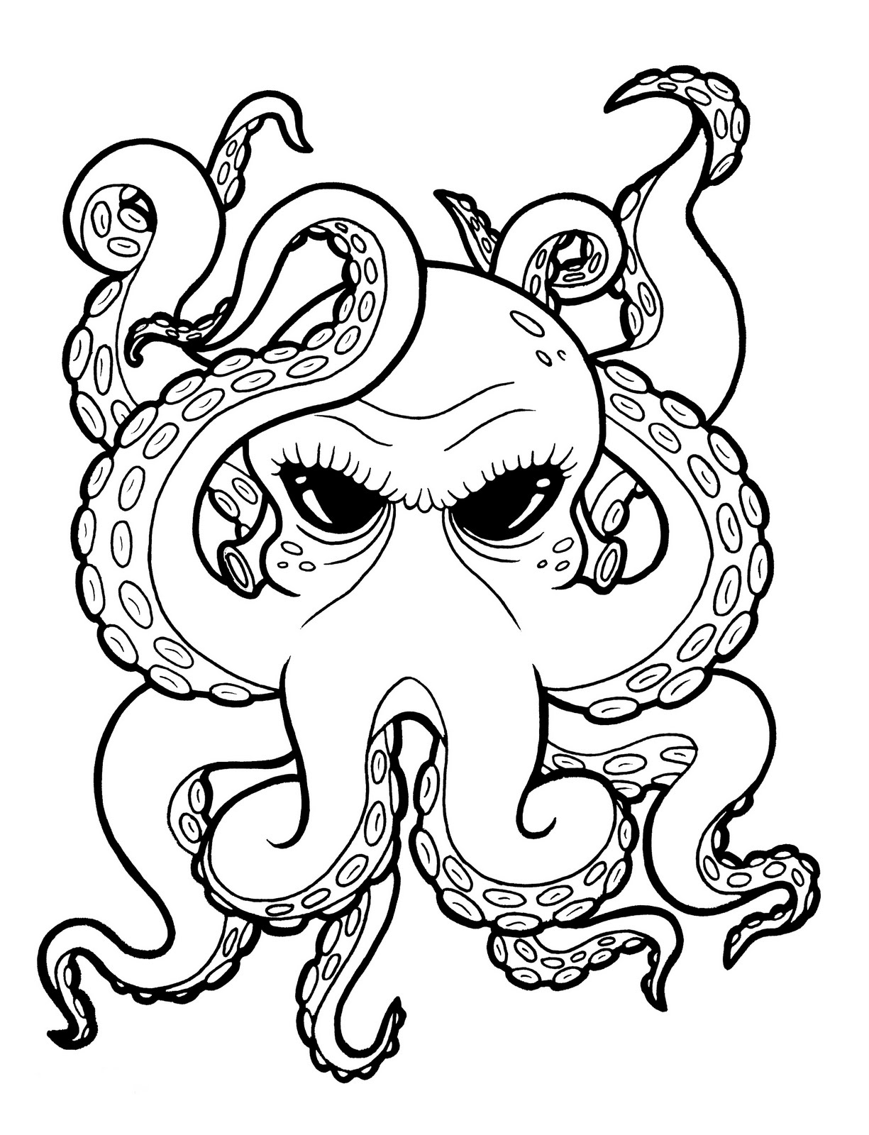 Jes Ha Ka : Pittsburgh: Octopus Side Piece Drawing