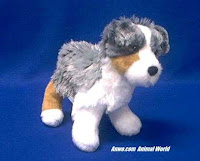 puppy australian shepherd plush stuffed animal steward douglas