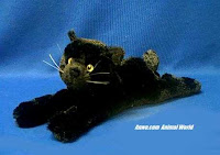 black cat plush stuffed animal cat toy