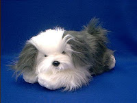 bearded collie plush stuffed animal