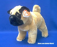 pug plush stuffed animal ty dax
