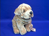 large shar pei plush stuffed animal toy
