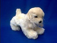 puppy cocker spaniel plush stuffed animal white chocolate
