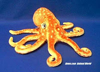 orange octopus plush stuffed animal