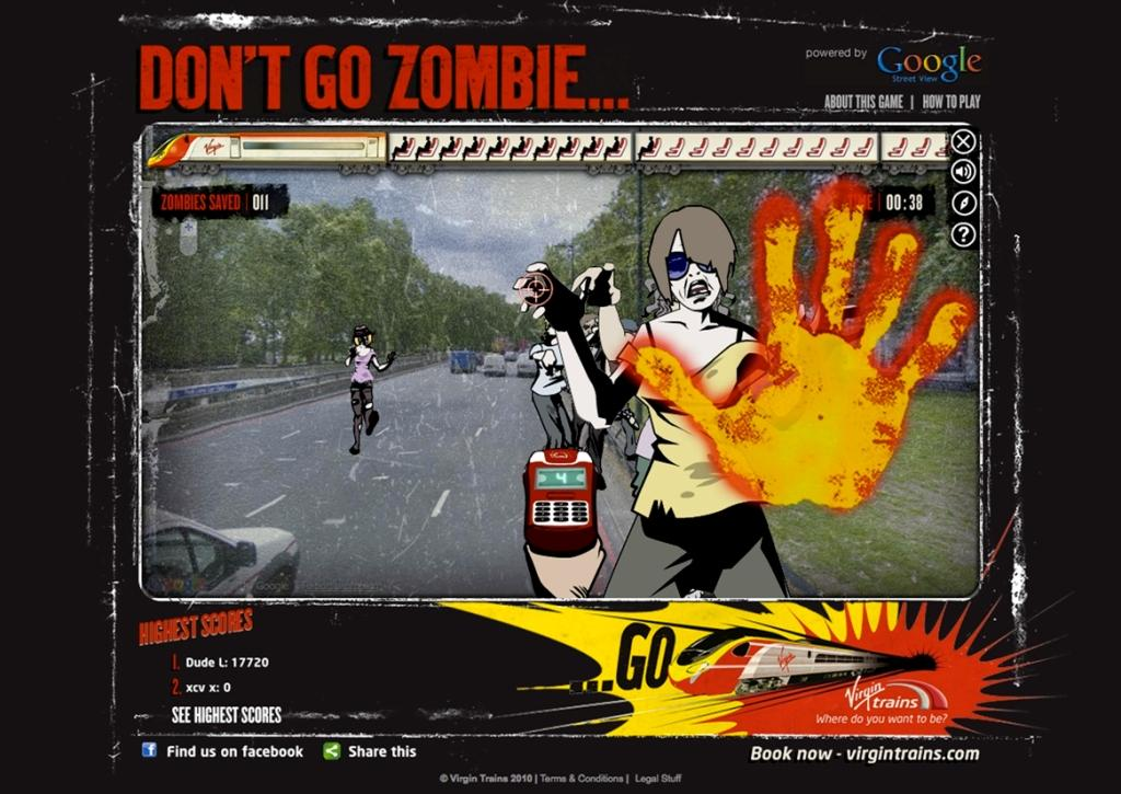Zombies And Toys: Google Maps' Street View Zombie Game