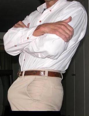 huge bulge in public