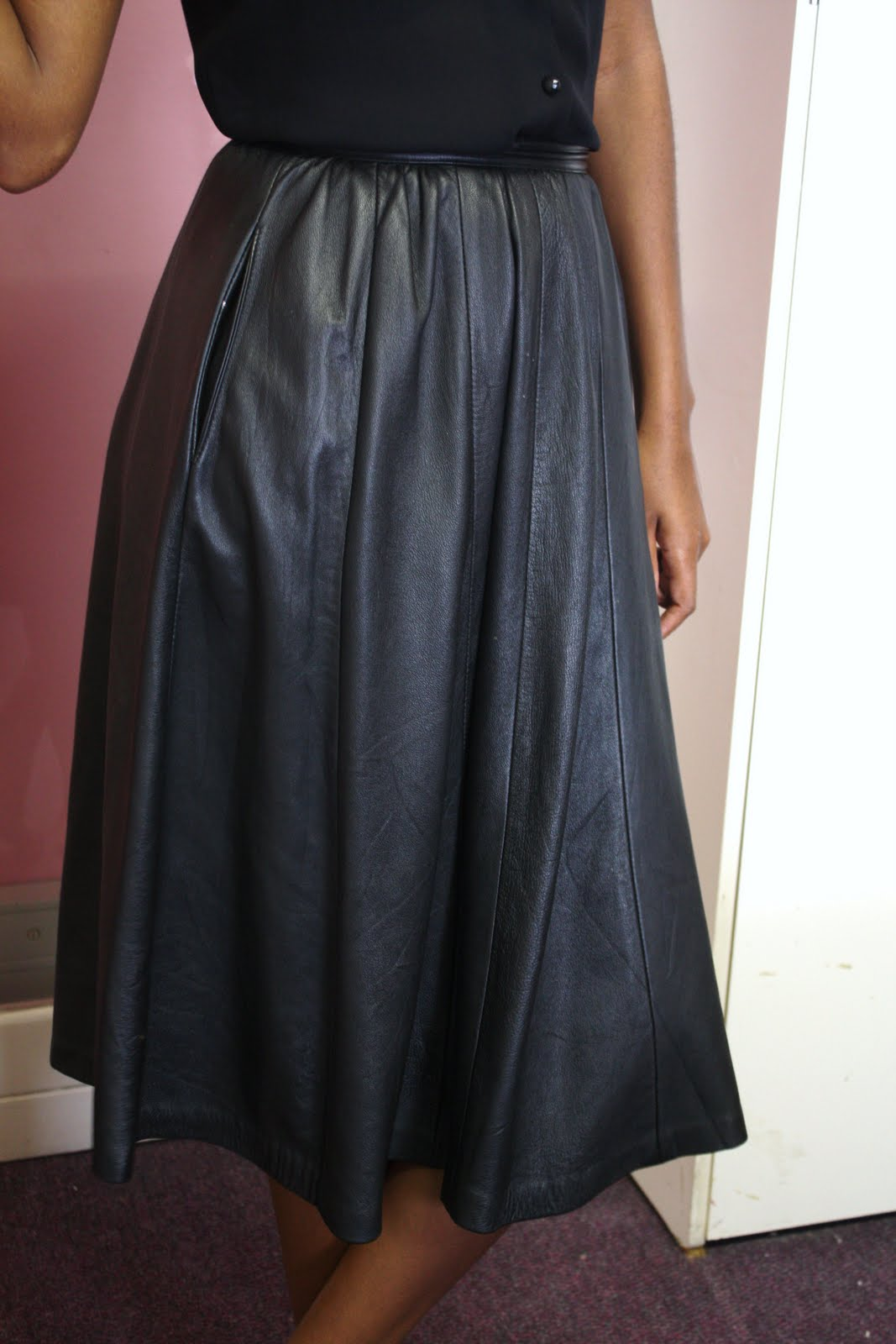 Vintage Leather Skirt 6