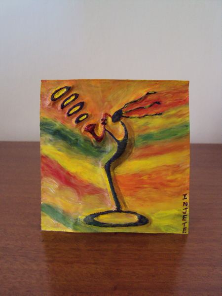 Art by injete handmade metal cards miniature gifts