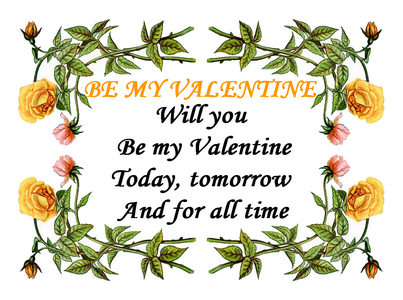 Valentines Love Verses – Verses for Valentine Cards