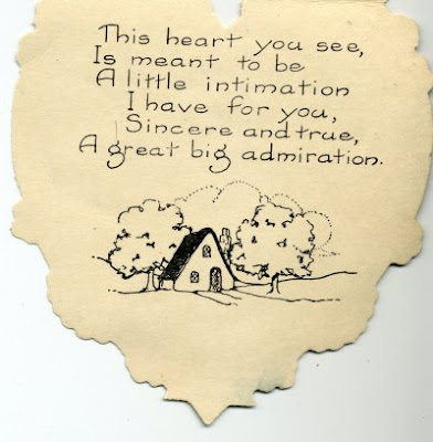 1924 children's Valentine, back