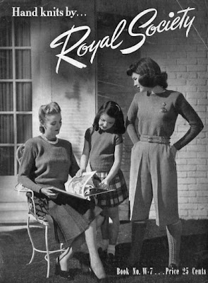Royal Society knitting brochure cover