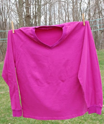 Pink French terry sweatshirt