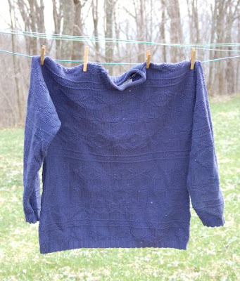 Oversized knit sweater, before alteration