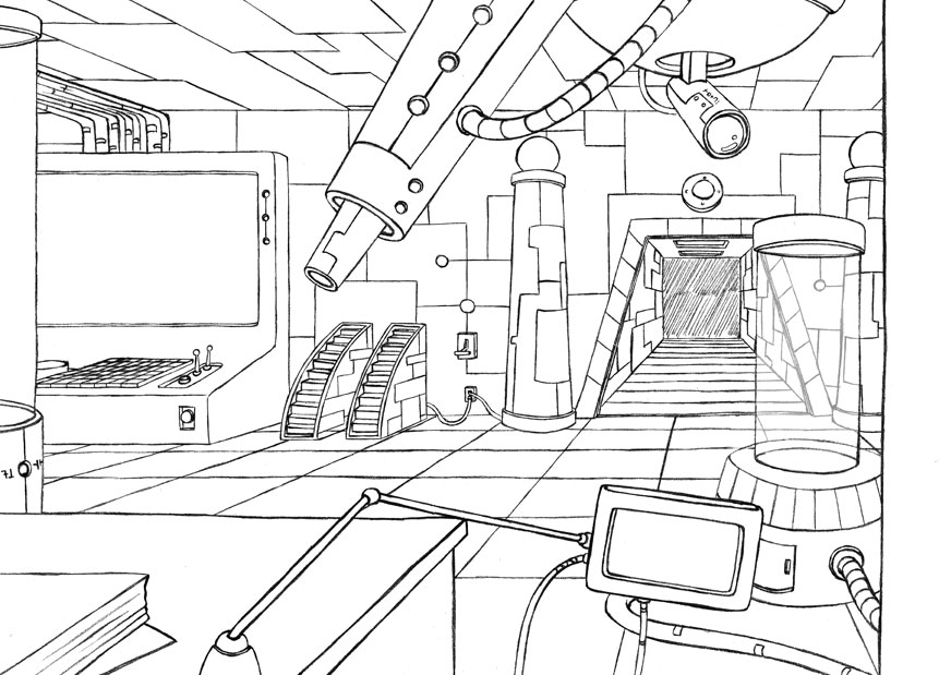 Art By-Anca: Mad Scientist Lab Layout