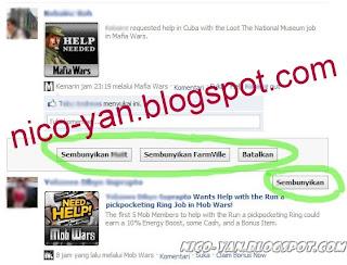 Blok posting aplikasi di Facebook