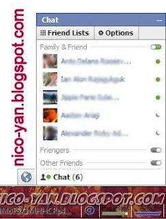 Mengubah Status Chat di Facebook