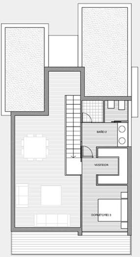 Planos 3d casa 3 dormitorios vivienda moderna planos de for Viviendas modernas planos