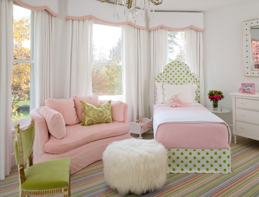 Dormitorio para ni a en colores pastel - Colores para dormitorios ...