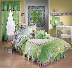 Recamara para ni a en verde y amarillo pastel - Habitaciones infantiles verdes ...