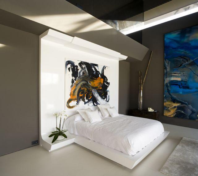 Dormitorio moderno gris y blanco by - Decoracion blanco y gris ...