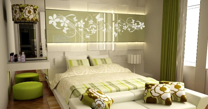 dormitorio_fresco_verde_Green_Accented_White_Bedroom_by