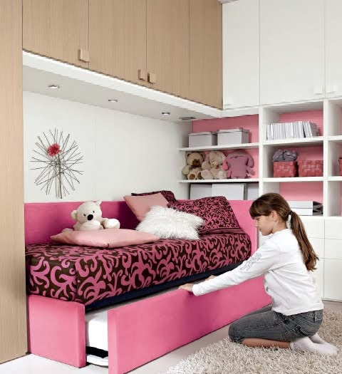 Habitacion juvenil fucsia for Programa diseno habitaciones gratis