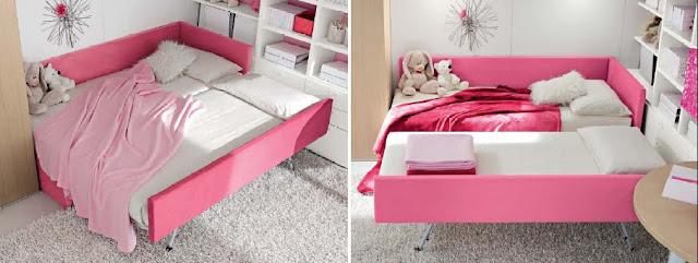 Dormitorio fucsia rosado para ni as y jovencitas - Camas dobles infantiles ...