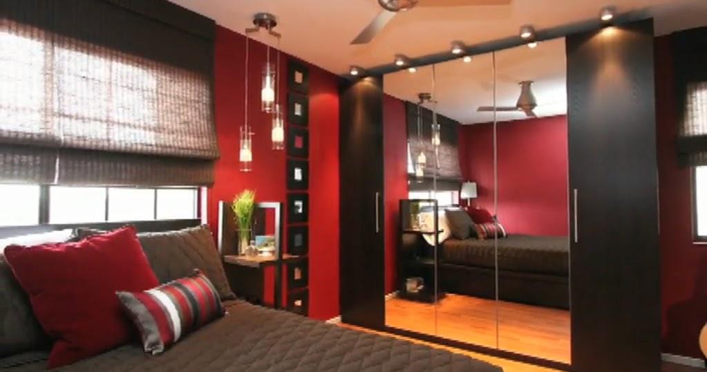 Dormitorio Para Joven Adolescente En Rojo Y Negro Video