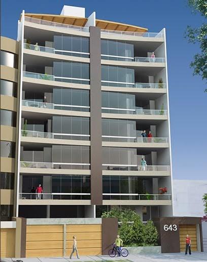 Fachadas de edificios de departamentos en miraflores for Fachadas de casas modernas en lima
