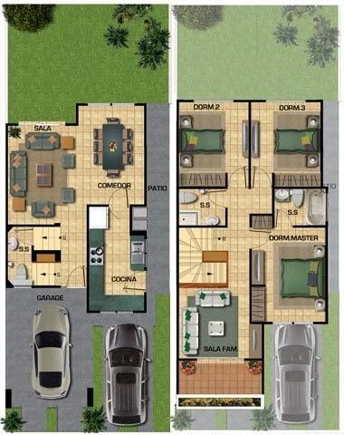 planos de casas 8x18