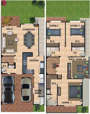 Planos de casa de 180 metros cuadrados con 133 m2 de for Cuarto de 10 metros cuadrados