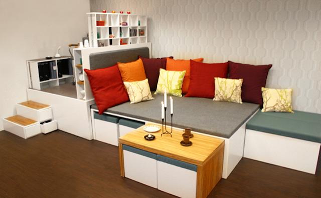 Dormitorios muy peque os como decorar una habitacion muy for Mesillas de habitacion