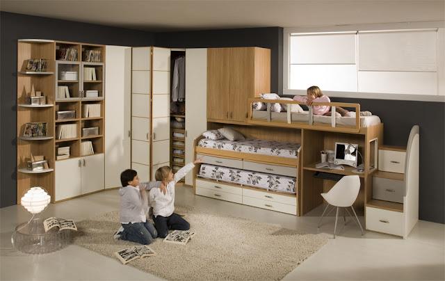 DORMITORIO PARA 3 NIÑOS Y CAMAS TRIPLES via dormitorios ...