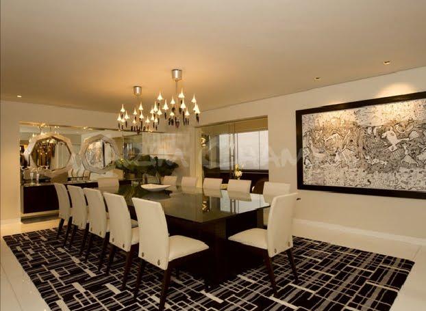 Sala moderna elegante y lujosa con amplio comedor video - Decoracion de comedor moderno ...