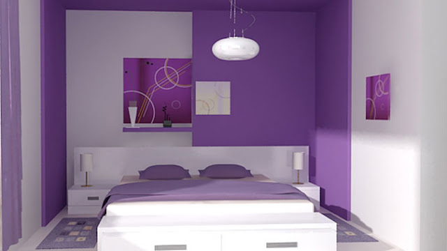 Dormitorios morados dormitorios lilas dormitorios violeta for Habitacion lila y blanca