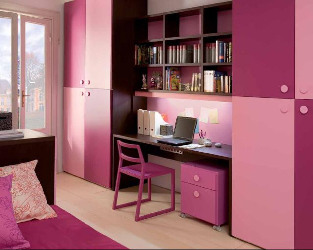 dormitorio para hermanas habitacion rectangular para jovencitas by escritorio