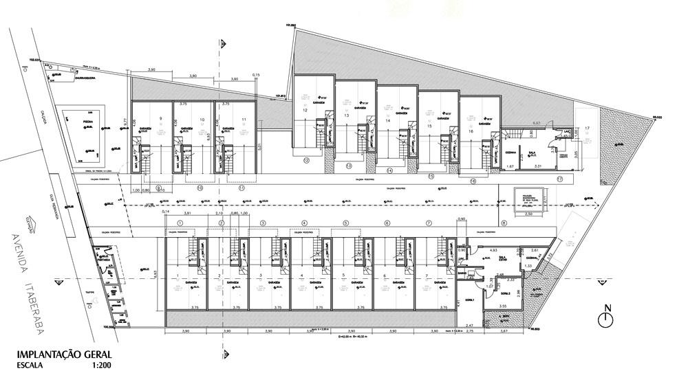 Planos de condominios de casas de 46m2 planos de casas for Departamentos minimalistas planos