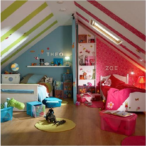 Dormitorios compartidos para ni o y ni a decoraci n for Chica azul dormitorio deco