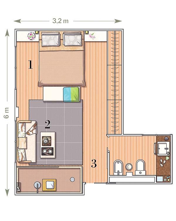 Planos de dormitorios for Diseno de habitacion con bano privado