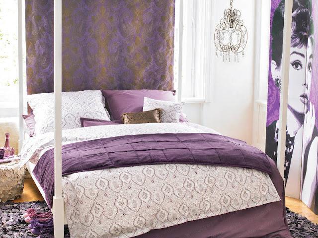 Dormitorios morados dormitorios lilas dormitorios violeta for Color gris plata para paredes