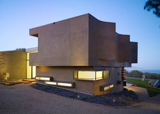 Fachadas minimalistas de casa por griffin enright for Casa minimalista cristal