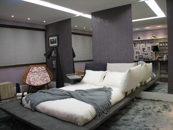 Dormitorio de fotografa for Cuarto azul con gris