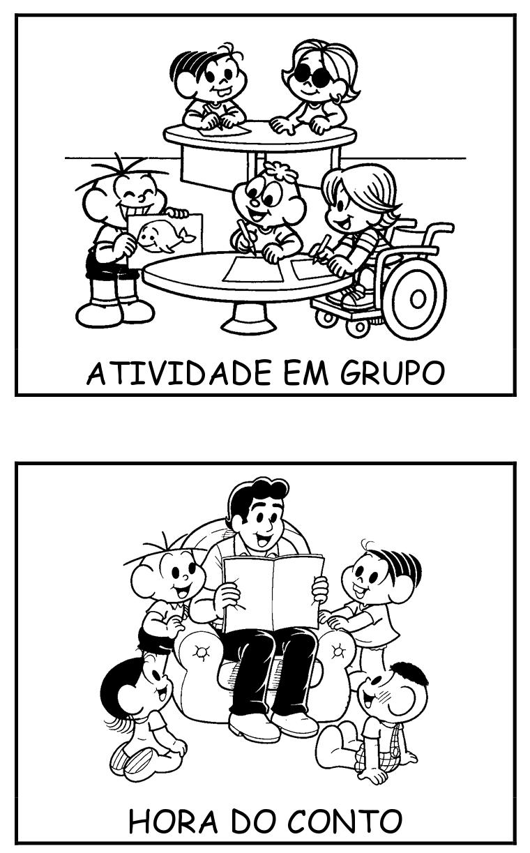 Alfabetizando Com Monica E Turma Fichas De Rotina
