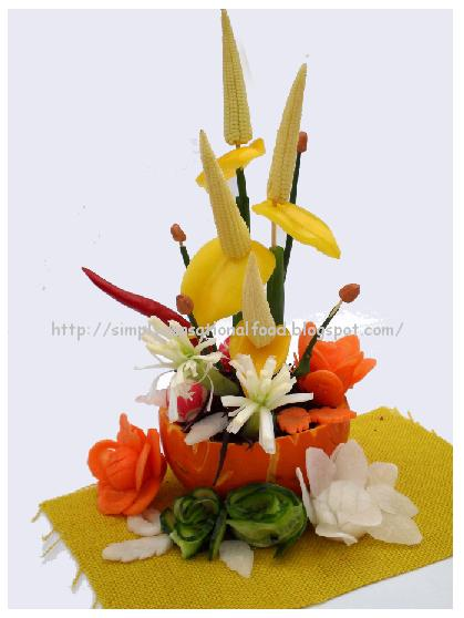 Vegetable Flower Arrangement Create N Carve Simply Food