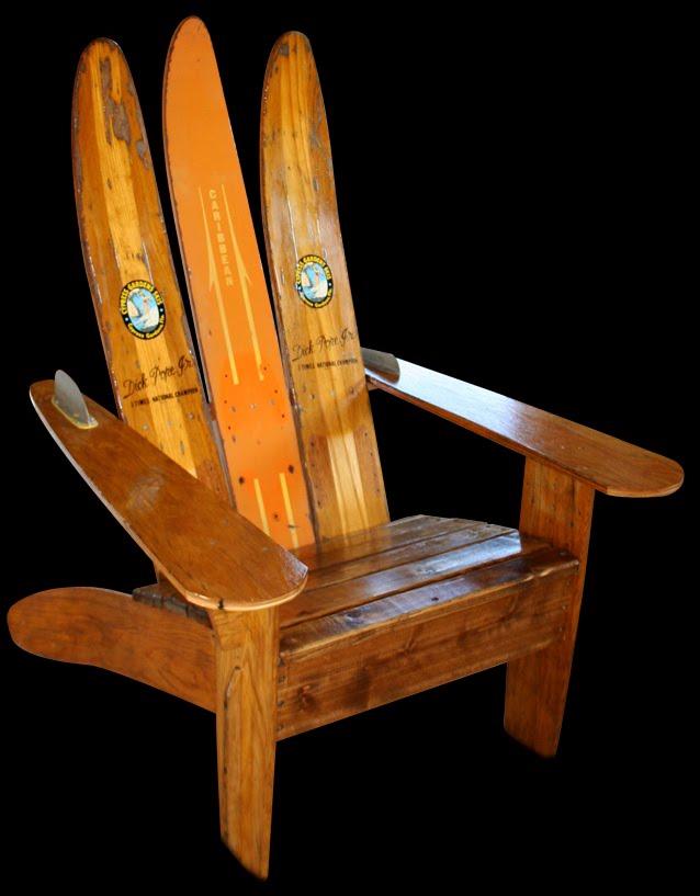 Brad Dunham Custom Art Adirondack Ski Chairs