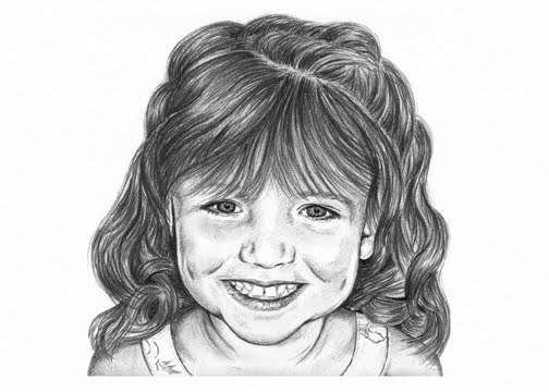Ive been busy which is very nice so here some more of my recent child pencil drawing work