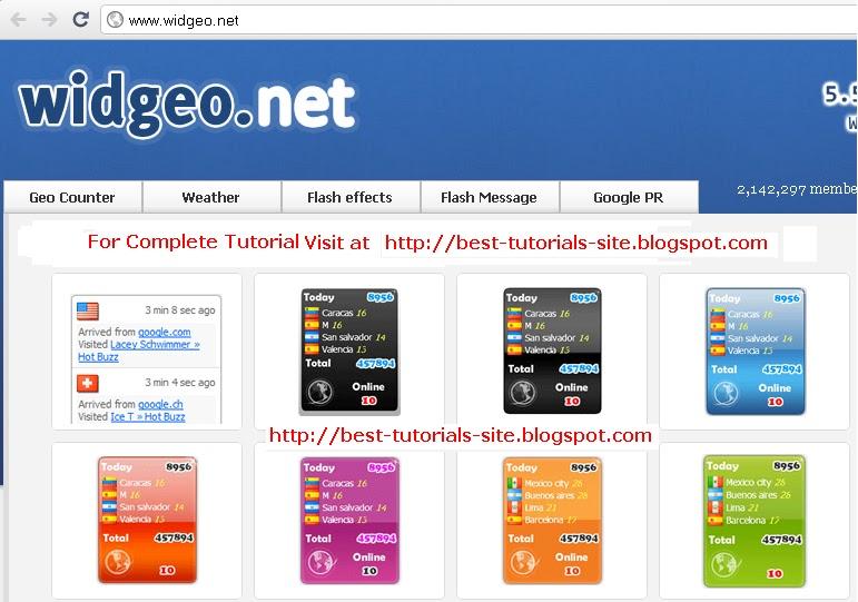 BestTutorialsBlog com: Insert online Visitors Widget or