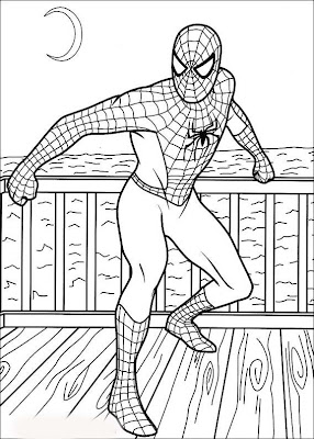 SPIDERMAN COLORING: SPIDERMAN COLORING PICTURES