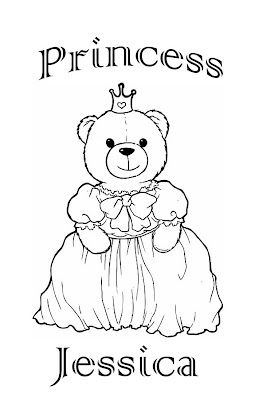 jessica name coloring pages | PRINCESS COLORING PAGES