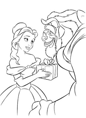 Belle and the beast coloring pages ~ PRINCESS COLORING PAGES